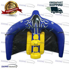 11.5x8.2ft Inflatable Durable Game Flying Manta Ray Water Ski Tube With Air Pump