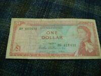 EAST CARIBBEAN-(-1965-ND-)-1 DOLLAR-Prefix A9-CIRCULATED BANKNOTE