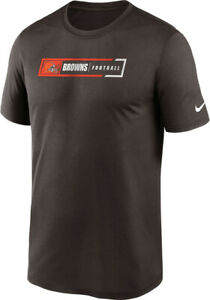 NIKE CLEVELAND BROWNS NFL ALL LEGENDS PERFORMANCE DRI-FIT MENS BROWN T-SHIRT NWT