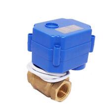 1 pieza Motorizado Válvula de bola azul latón G1/5.1cm DC12V 2 vías 3 CABLES