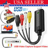USB 2.0 Audio Video VHS VCR to DVD Converter Capture Card Adapter Digital Format
