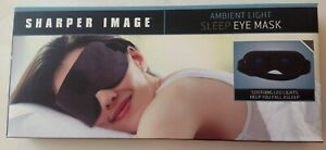 Sharper Image Sleep Eye Mask Soft Ambient Light New in Box