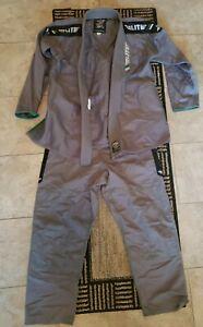 Elite Sports BJJ GI, Pants for Men  Jiu Jitsu, Brazilian Design Gray, Size A2