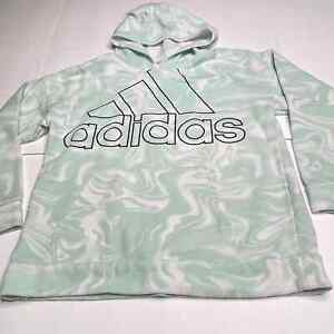 Adidas Marble Tie Dye Hoodie Boxy Oversized Pullover Mint Size Large