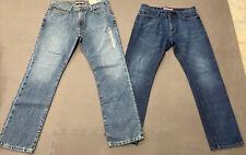 Lot of 2 Tommy Hilfiger Men's Classic Fit Straight Leg Denim Jeans 34 x 32 Chrty