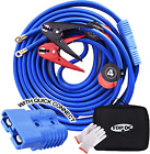 TOPDC, Jumper Cables w/ Quick Connect Plug 1 Gauge 25 ft 700Amp Heavy Duty Cable