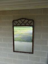"""HENREDON Asian Campaign Style Faux Bamboo Mirror 48""""H x 29""""W"""