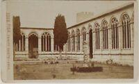 Pisa Campo Santo Italia Carte de visite CDV Foto Brogi Vintage Albúmina