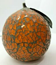 Home Decor Mosaic Orange Glass Fruit
