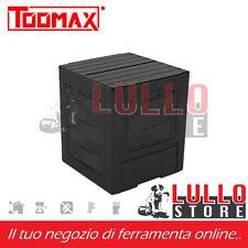RATTAN 60x60x83 LT300 MARRONE CARICO SUPERIORE COMPOSTIERA COMPOST PLASTICA EFF