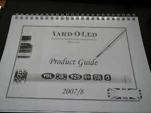 Rare Yard O Led Product Guide 2007/8 collectable