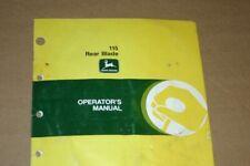 Jd John Deere 115 Rear Blade Operators Manual