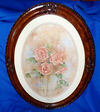 MARTY BELL HAND SIGNED FRAMED LITHOGRAPH PRIDE OF SPRING ROSES L.E. 663/1200 COA