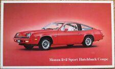 Chevy/Chevrolet Monza 2+2 Sport Hatchback Coupe Chrome Car Advertising Postcard