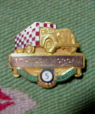 TRUCK with Checkerboard Trailer 5 Years SAFETY AWARD 10K Gold PIN