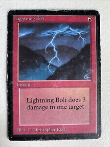 mtg Beta Lightning Bolt HP