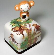 Chinese Zodiac Sign Monkey Korea Orgel Music Box Paperweight Hand Craft Figure