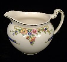 Johnson Bros. Eastbourne Old English Creamer Cream Pitcher Scalloped Floral Blue