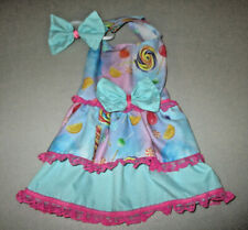 S Dog dress [candy blue] cotton handmade