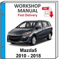 MAZDA 5 MAZDA5  2010 2011 2012 2013 2014 2015 2016 2017 SERVICE REPAIR MANUAL