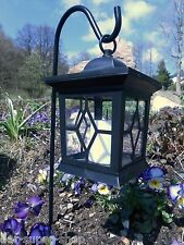 Solar LED Laterne Standleuchte Solarlampe Grablicht Laterne Leuchte Kerze neu