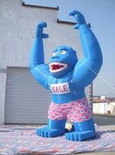 20ft Inflatable Blue Gorilla Advertising Promotion with Blower 110v / 220v @E
