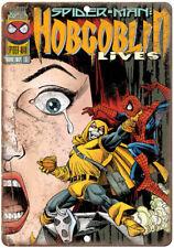 """Hobgoblin Spider-Man Comic Book Marvel Comics 10"""" x 7"""" Retro Look Metal Sign"""