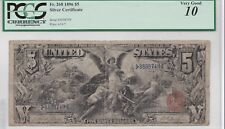 1896 $5 Silver Certificate, Popular and highly collected note, A MUST PCGS VG 10