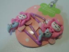 mermaid sparkle pink hair clips slides bendies girls hair accessories novelty