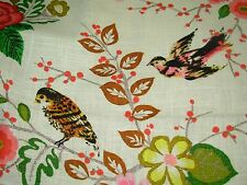"~BTY~RICHLOOM~""GALAPAGO""BIRDS ANIMALS~LINEN BLEND UPHOLSTERY FABRIC FOR LESS~"