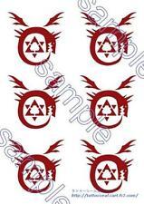 New Cosplay Body Art Tattoo seal Sticker Fullmetal Alchemist Ouroboros F/S