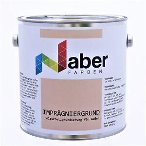 2,5 Liter Holzschutz  IMPRÄGNIERGRUND  Holzgrundierung  Weiß