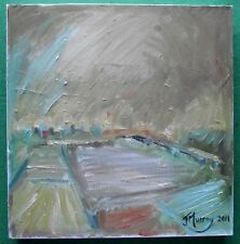 Original Expressionist Landscape Oil Painting by Jane Murray : Golden Summer Day