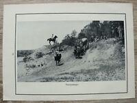 Blatt 1914-18 Munitionswagen Kolonne Wagen Pferde Reiter Soldaten Offiziere 1.WK