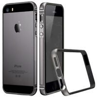 For Apple iPhone SE 5S Luxury Metal Bumper Aluminum+Rubber Shockproof Case Cover