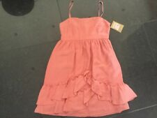 NWT Juicy Couture Ladies Small UK Size 8 Silk Fully Lined Pink Summer Dress
