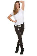 Pantaloni da donna marrone in cotone slim, skinny, treggings