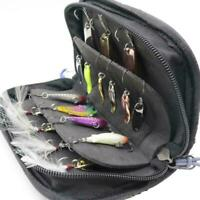 Fishing Pouch Spoon Lure Waterproof Tackle Bag Wallet Spinner Baits-Storage S9V9