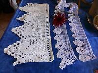 lot=des bandes de dentelles  crochet coton faites main pour vos étagéres ....