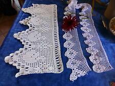 des bandes de dentelles  crochet coton faites main pour vos étagéres ........