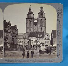 German Stereoview Luther's Church Wittenberg Germany Underwood