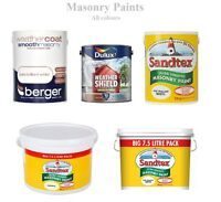 Outdoor / Exterior - Smooth Masonry Paints - Magnolia, White, Red - All Sizes