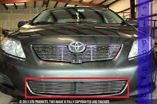 GTG 2009 2010 Toyota Corolla LE 1PC Polished Overlay Bumper Billet Grille Grill
