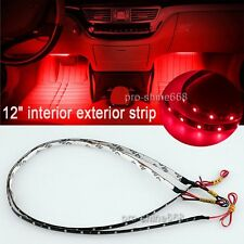 "12"" Red 12SMD LED Interior Exterior Strip Footwell Dash Ambient Light Fit Hummer"