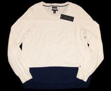 L Striped Regular Size Crewneck Sweaters for Women