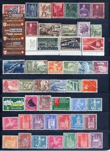Switzerland 1940 - 1992 Mint/Used 3 Scans CV $73US L#5907