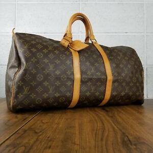 100% Authentic Louis Vuitton Monogram Keepall 55 M41424 travel bag used