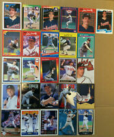 John Smoltz LOT of 53 rookie insert base cards HOF NM+ 1989-1999 Atlanta Braves