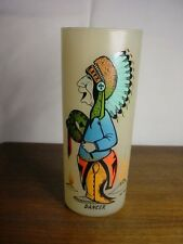 """VINTAGE BILL LORES HUMOROUS INDIAN TUMBLER/GLASS """"DANCER"""" GENTLY USED~VGC"""