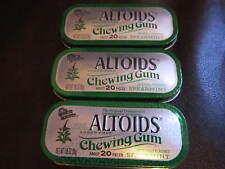 ALTOIDS Spearmint Gum, 3 EMPTY collector Tins, NO GUM